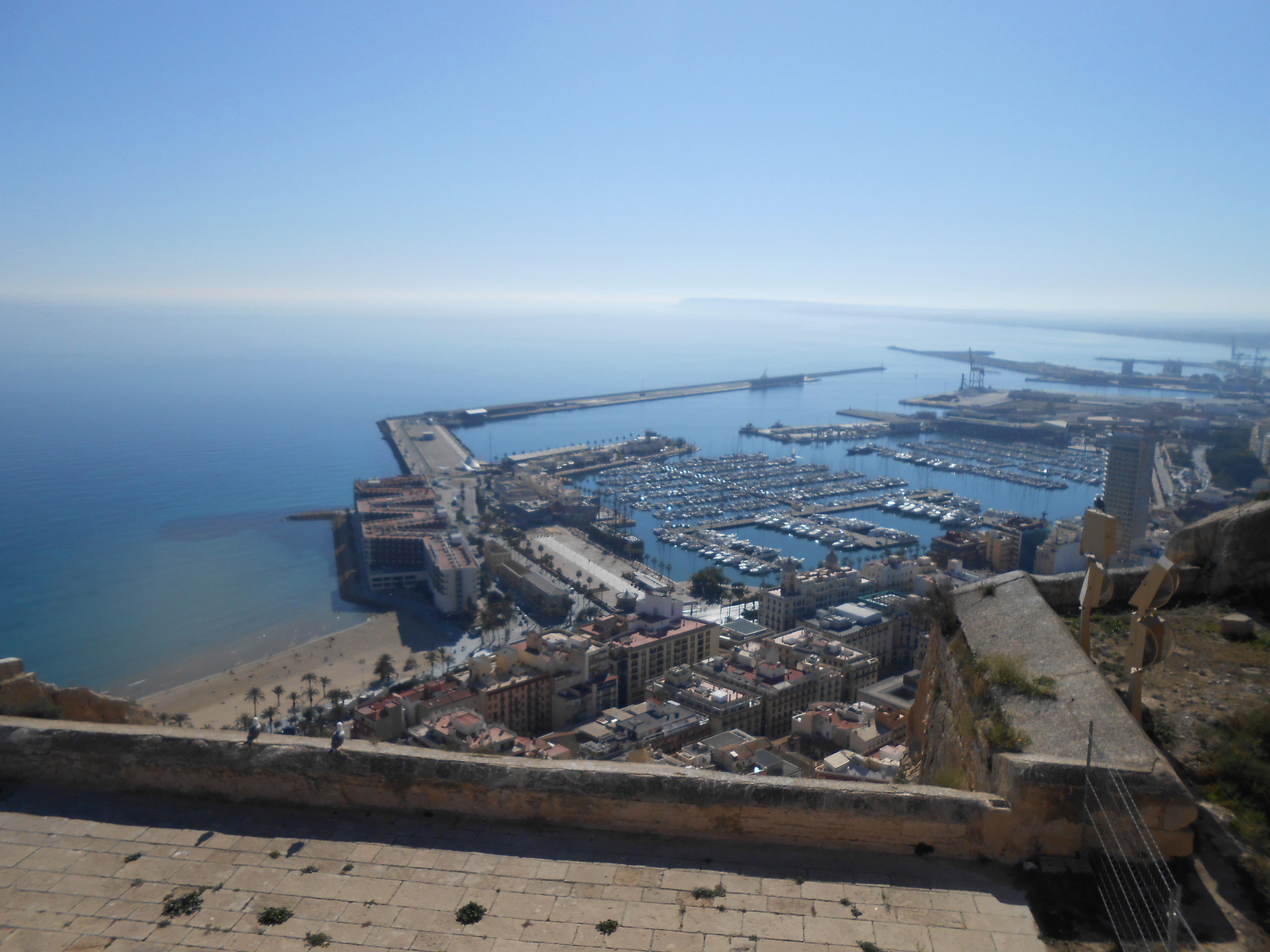 Hafen Alicante vom Kastell